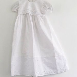 Little Things Mean A lot White Eyelet Christening